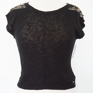 Guess Sweaters - Guess lightweight black sweater with sequins